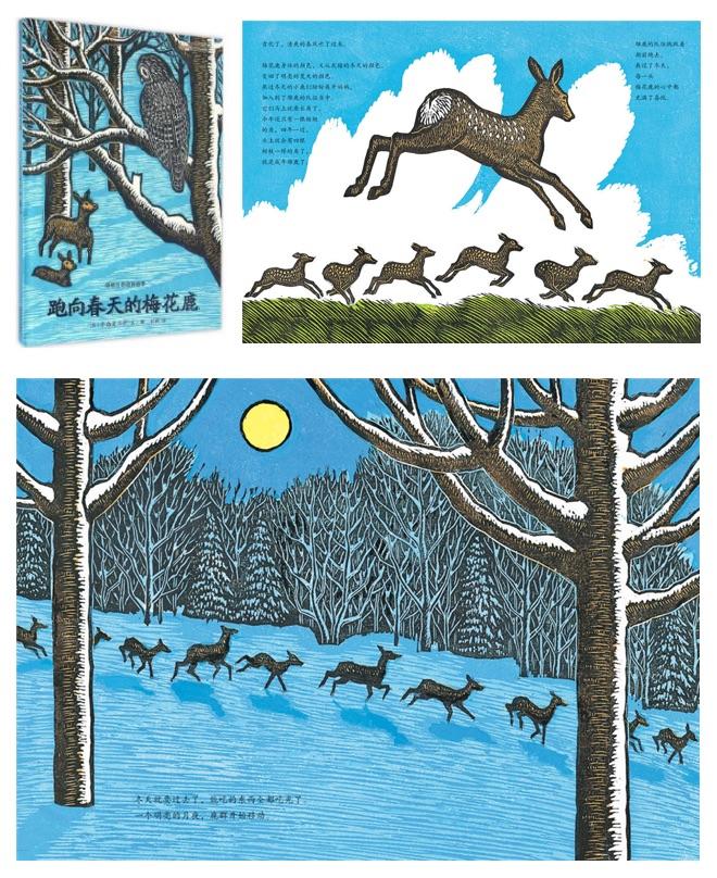 《感悟生命动物绘本》之《跑向春天的梅花鹿》内页