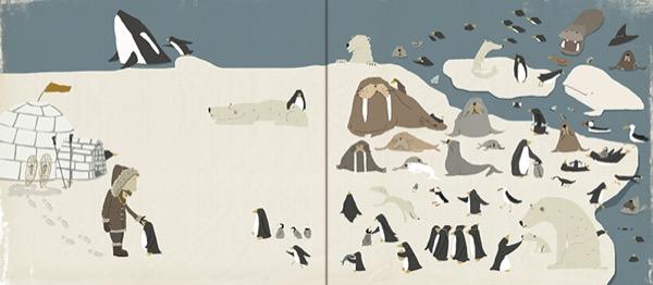《该回家了小淘气》内页|请找出不属于极地的动物。