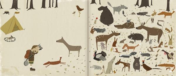《该回家了小淘气》内页|请找出不属于森林的动物。